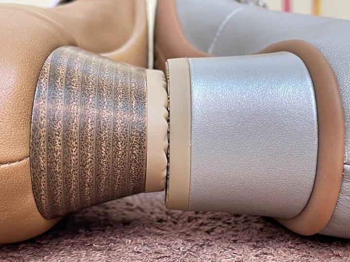 靴の底を見て、広いものを選ぶ